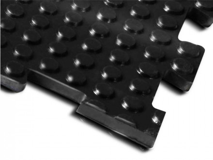 Gummimatte | Double-Nopp | 100x100 cm | Mit Steck-Verbindern
