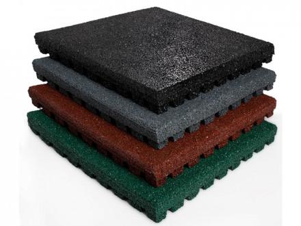 Fallschutzmatte Play Protect Pro | 25 + 43 mm | 50x50 cm | 4 Farben