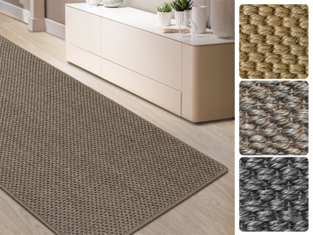 Sisal-Teppich Tiger-Eye-Design