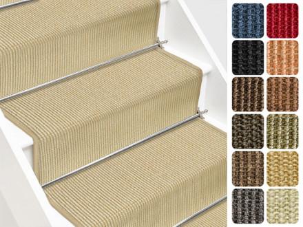 Sisal-Treppenteppich Sylt | Viele Farben