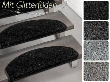 Hochflor-Stufenmatte Memphis | Mit Glitzerfäden | 4 Farben