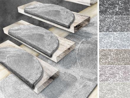 Velours-Stufenmatten Sundae | Halbrund oder Eckig | 6 Farben